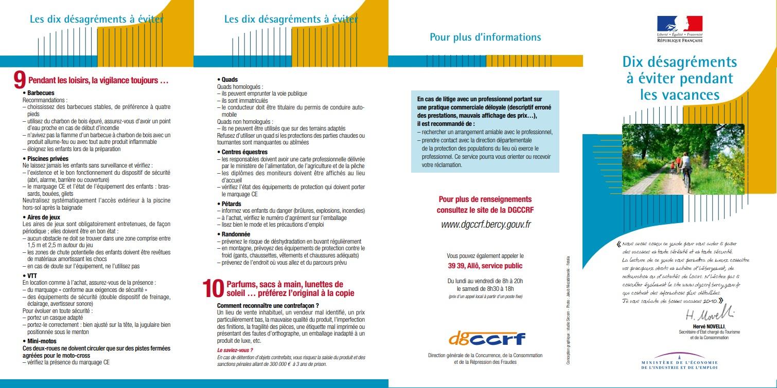 DGCCRF : 10 désagréments à éviter bis