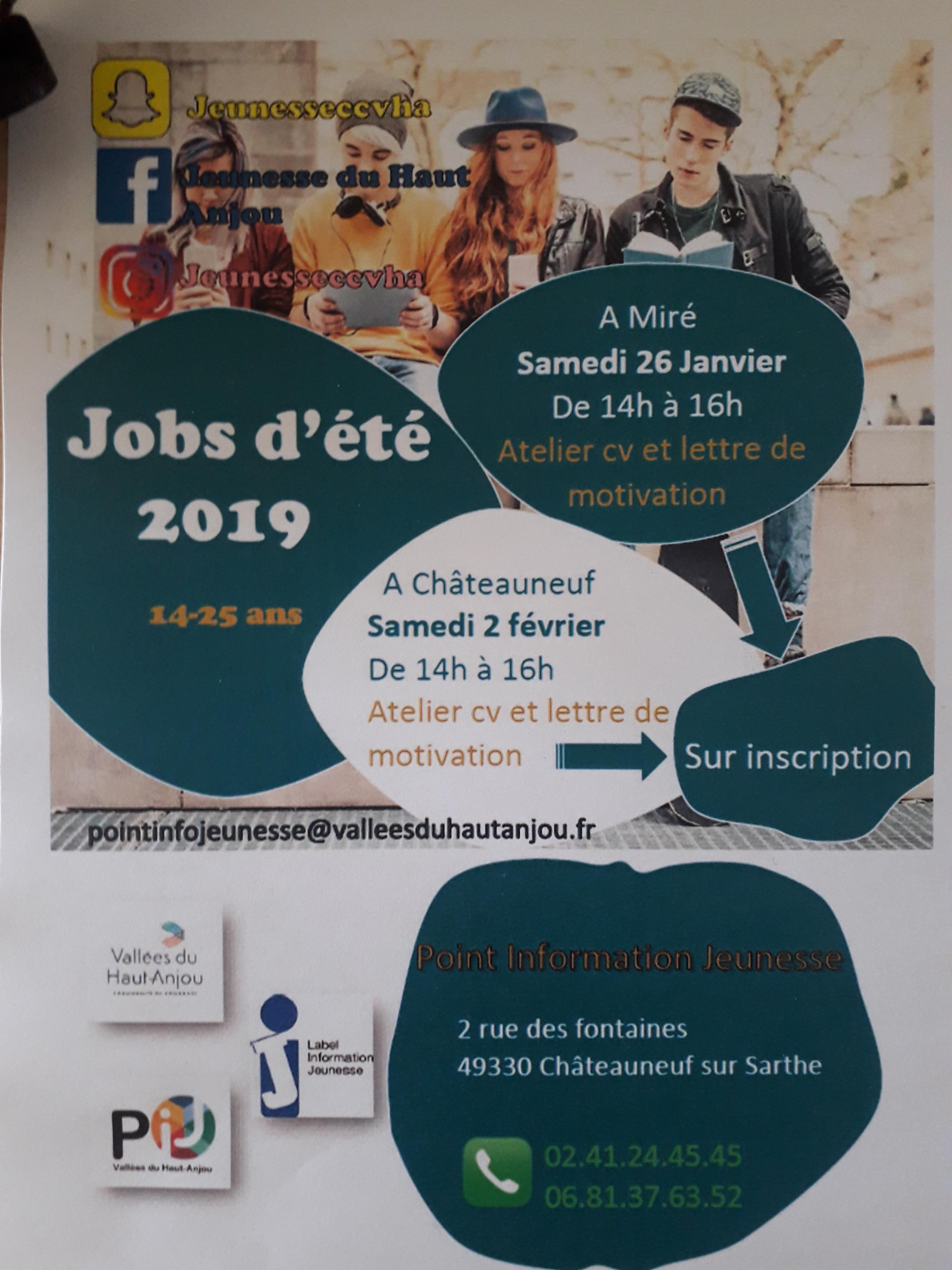 Ateliers Cv Et Lettre De Motivation A Mire Et Chateauneuf Sur