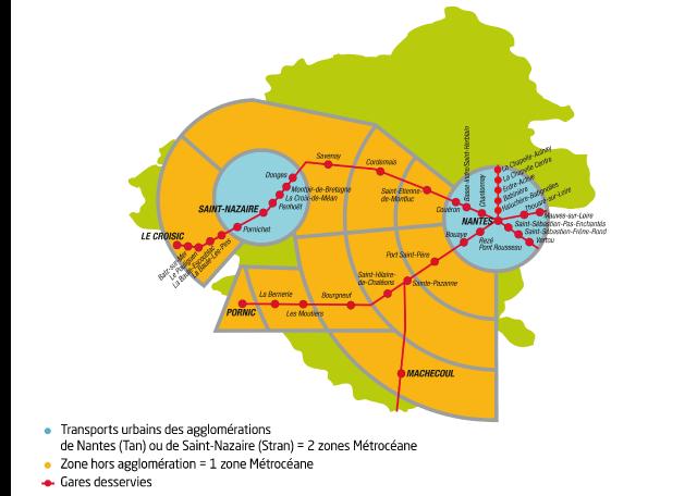 MétrOcéane - Plan des lignes