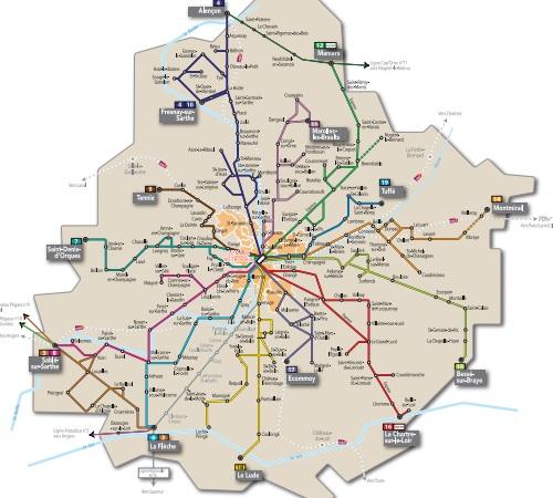 Plan De La Ville De Noyen Sur Sarthe