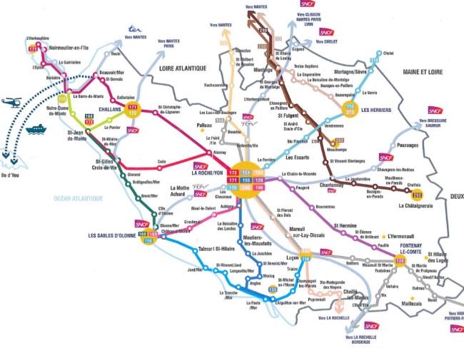carte du réseau vendée