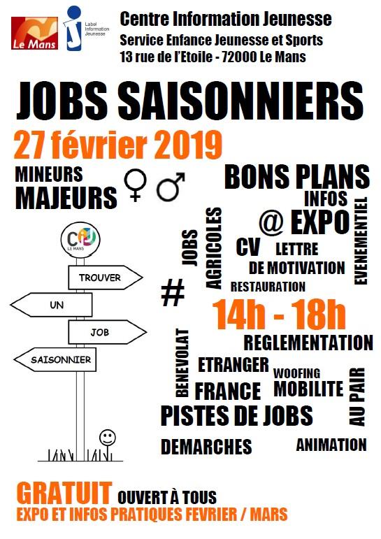 Forum Jobs CIJ Le Mans 27 février 2019
