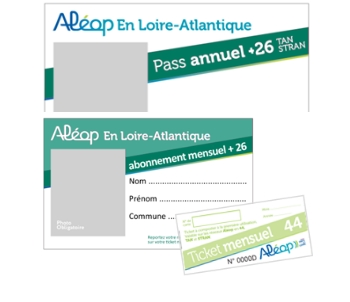 Abonnement Aléop en Loire-Atlantique - plus 26 ans