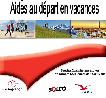 ANCV/Soléo - Aide aux vacances - 16-25 ans