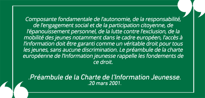 Préambule Charte de l'Information Jeunesse
