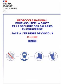 Port du masque obligatoire au travail au 1er septembre 2020