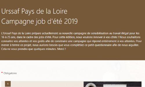 Urssaf et jobs d'été 2019