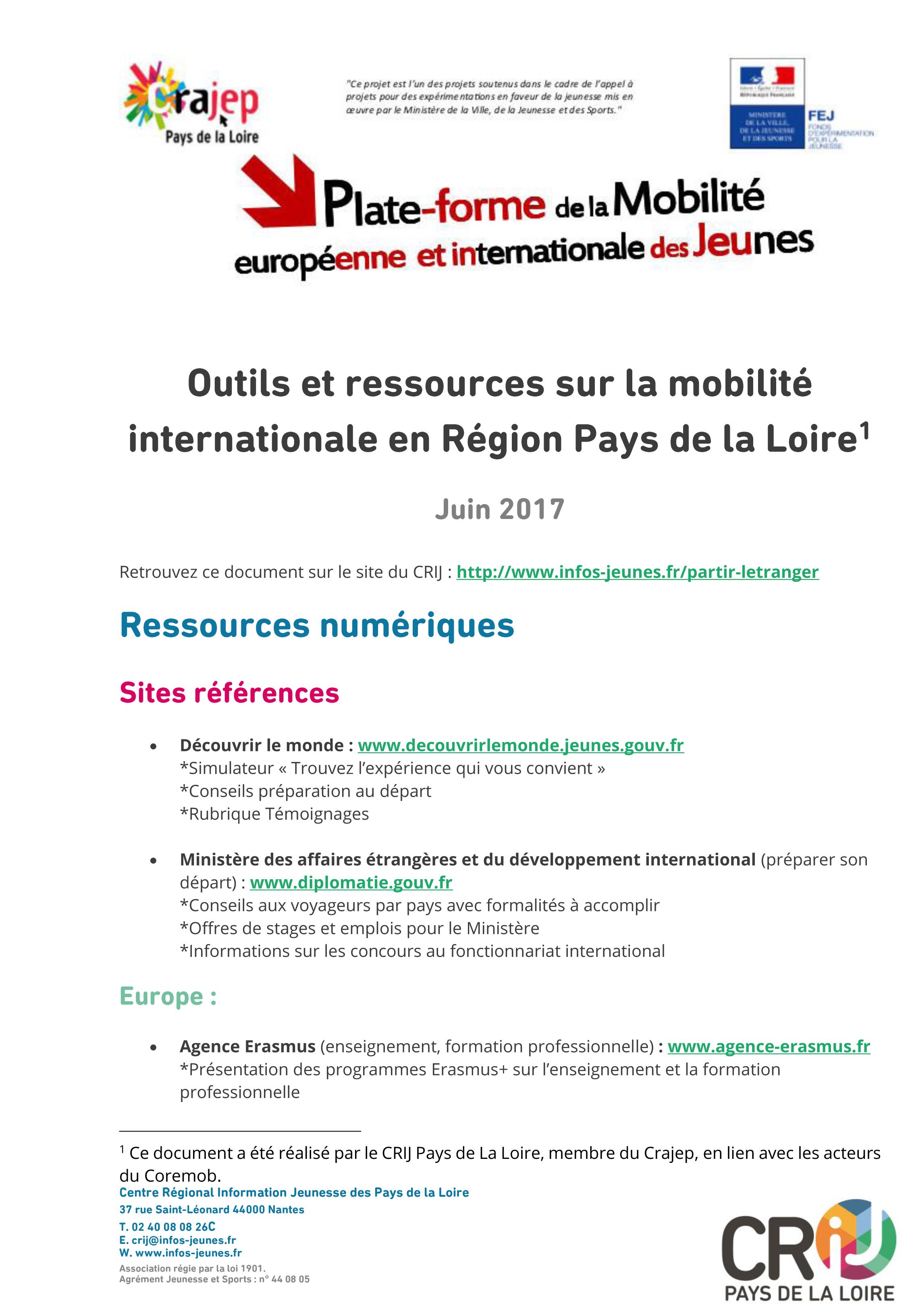 Coremob sur la mobilité internationale