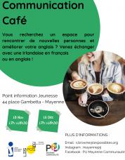 Affiche Communication Café PIJ Mayenne Communauté 2020