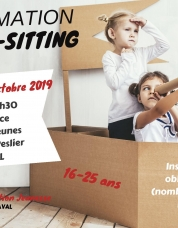Formation baby-sitting 25 octobre 2019