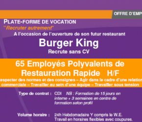 Burger King Carquefou recrute