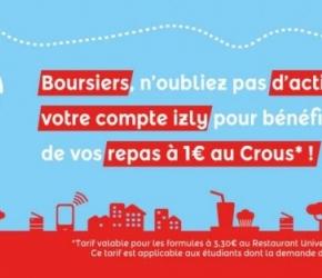 Repas U' 1 € boursier_CROUS_aides étudiantes