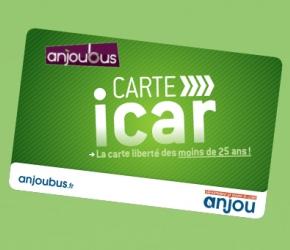 Carte iCar - Jeunes moins de 25 ans - Transports Maine et Loire